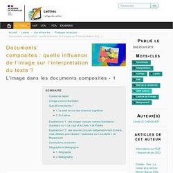 Documents composites : quelle influence de l'image sur l'interprétation du texte ? - La Page des Lettres -