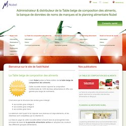 La table de composition des aliments | Banque noms de marques | Le planning alimentaire nutrition