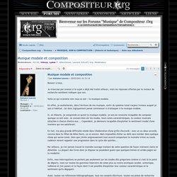 Musique modale et composition - COMPOSITEUR .ORG