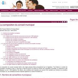 La composition du conseil municipal (vitrine.La composition du conseil municipal) - CNFPT