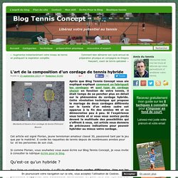 L'art de la composition d'un cordage de tennis hybride