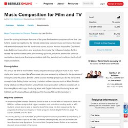 Music Composition for Film and TV Course