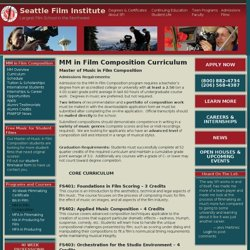 MM in Film Composition Curriculum