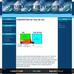 COMPOSITION de l'eau de mer