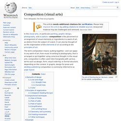 Composition (visual arts) - Wikipedia, the free encyclopedia