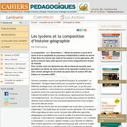 Les lycéens et la composition d'histoire-géographie