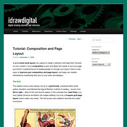 Composition and Layout of Comic Book Pages | idrawdigital - Tutorials for Drawing Digital Comics