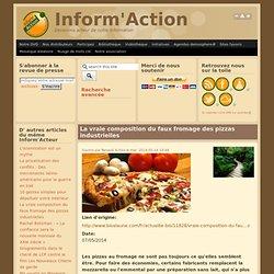 La vraie composition du faux fromage des pizzas industrielles