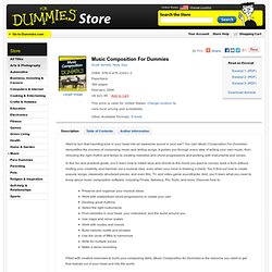 Music Composition For Dummies:Book Information
