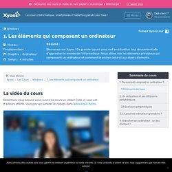 Composition de base d'un ordinateur - Cours Informatique Gratuit