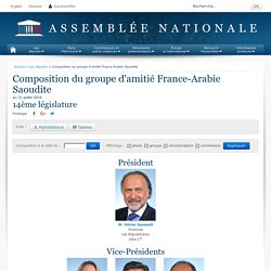 Composition du groupe d'amitié France-Arabie Saoudite au 21 juillet 2016 - 14ème législature