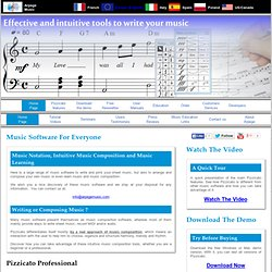 Pizzicato - A full range of music software