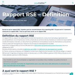 Rapport RSE : définition, composition, réglementation