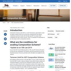 GST composition Scheme Rate