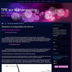 Structure et composition du cheveu - TPE sur le shampooing