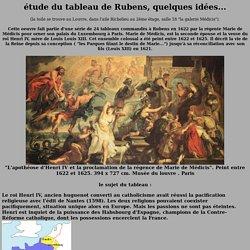 """Rubens, tude de la composition du tableau """"Apoth ose d'Henri IV"""""""