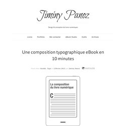 Une composition typographique eBook en 10 minutes