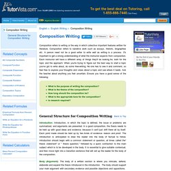 Learn Composition Writing - Rules, General Structure