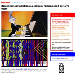 Black Midi: compositions so complex humans can't perform them / Boing Boing