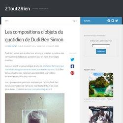 Les compositions d'objets du quotidien de Dudi Ben Simon