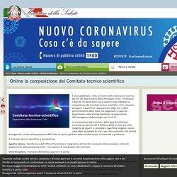 Online la composizione del Comitato tecnico scientifico
