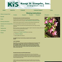 Keep It Simple Compost Tea Brewers and Composts