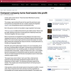 Compost company turns food waste into profit