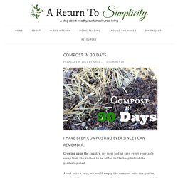 Compost In 30 Days