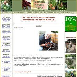 Garden compost making. How To Compost With A Compost Pile - Pictures And Description
