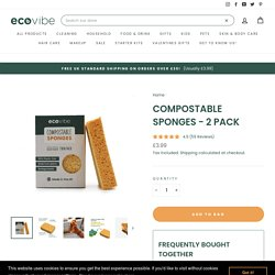 Eco friendly compostable sponges, biodegradable, Cellulose sponges UK