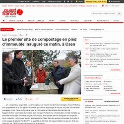 Le premier site de compostage en pied d'immeuble inauguré ce matin, à Caen - Caen - Environnement