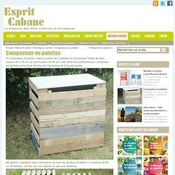 Composteur en palettes, Esprit Cabane, idees creatives et ecologiques