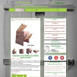 Composteur en bois pour toilettes sèches naturelles
