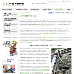 Composting 101 - How to Make Compost