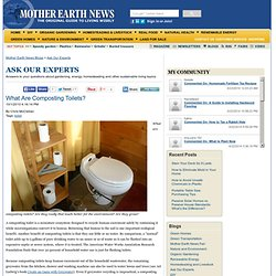 What Are Composting Toilets? - Green Homes