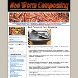 Red Worm CompostingQuick Facts About Worm Composting
