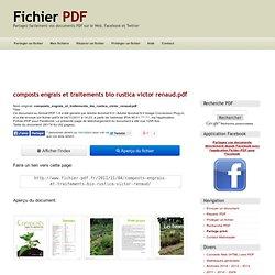 composts engrais et traitements bio rustica victor renaud