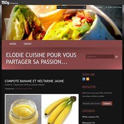 Compote banane et nectarine jaune