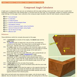 Compound Miter Saw Calculator