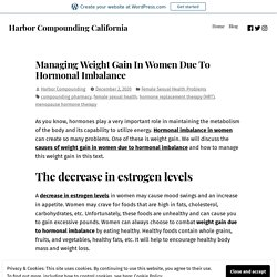 Managing Weight Gain In Women Due To Hormonal Imbalance
