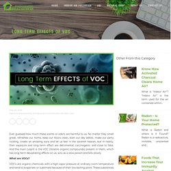Long Term Effects of Volatile Organic Compounds- BreatheFresh