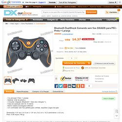 DualShock Bluetooth Wireless SIXAXIS Controller for PS3 - Black + Orange