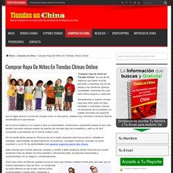 Comprar Ropa De Niños En Tiendas Chinas Online