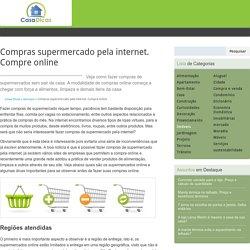 Compras supermercado pela internet. Compre online