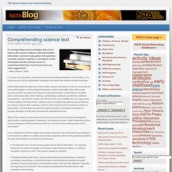 Comprehending science text