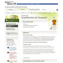 Compréhension de l'incapacité — OPHQ Services accessibles