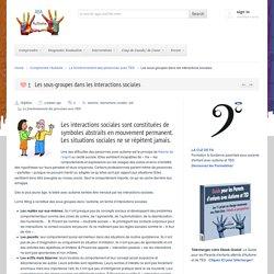 Compréhension et AdaptationLes sous-groupes dans les interactions sociales