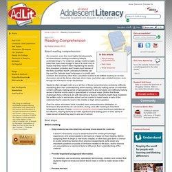 Adolescent Literacy 101