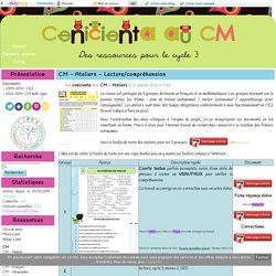 Ateliers - Lecture/compréhension
