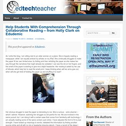 Help Students With Comprehension Through Collaborative Reading – from Holly Clark on Edudemic